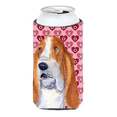 Basset Hound Hearts Love And Valentines Day Portrait Tall Boy bottle sleeve H...