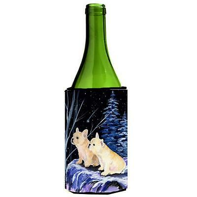 Carolines Treasures Starry Night French Bulldog Wine bottle sleeve Hugger