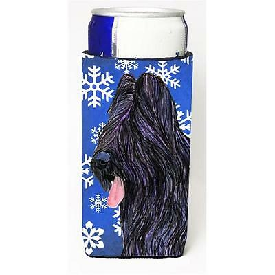 Briard Winter Snowflakes Holiday Michelob Ultra bottle sleeves for slim cans ...