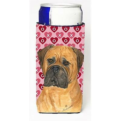 Bullmastiff Hearts Love And Valentines Day Portrait Michelob Ultra bottle sle...
