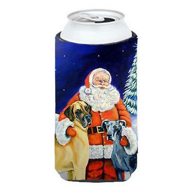 Carolines Treasures Santa Claus With Great Dane Tall Boy bottle sleeve Hugger