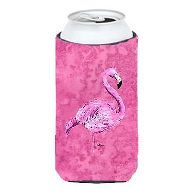 Carolines Treasures Flamingo On Pink Tall Boy bottle sleeve Hugger 22 To 24 oz.