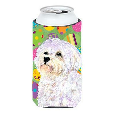 Carolines Treasures Maltese Easter Eggtravaganza Tall Boy bottle sleeve Hugger