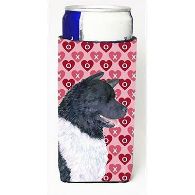 Akita Hearts Love And Valentines Day Portrait Michelob Ultra bottle sleeves F...