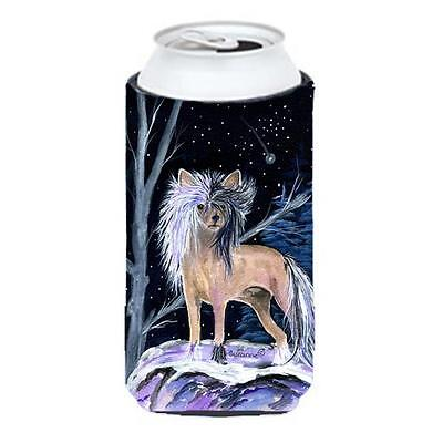 Carolines Treasures Starry Night Chinese Crested Tall Boy bottle sleeve Hugger