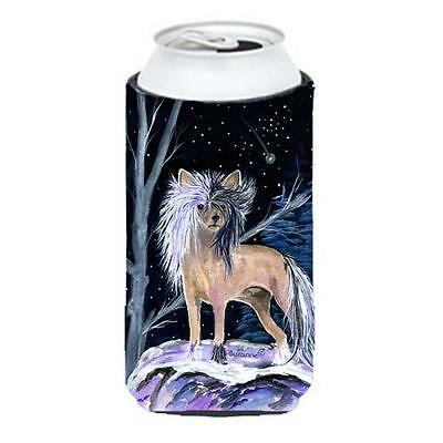 Carolines Treasures Starry Night Chinese Crested Tall Boy bottle sleeve Hugger • AUD 47.47