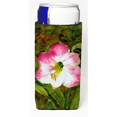 Carolines Treasures Flower Amaryllis Michelob Ultra bottle sleeve for Slim Can