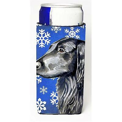 Flat Coated Retriever Winter Snowflakes Holiday Michelob Ultra bottle sleeves...