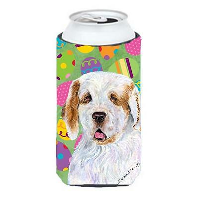 Clumber Spaniel Easter Eggtravaganza Tall Boy bottle sleeve Hugger