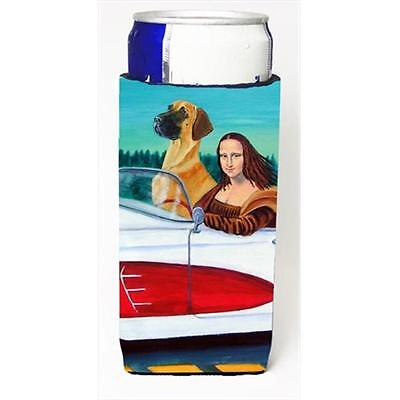 Great Dane With Mona Lisa Michelob Ultra bottle sleeves For Slim Cans 12 Oz.