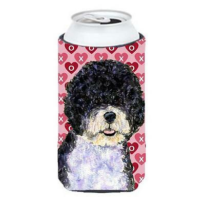 Portuguese Water Dog Hearts Love Valentines Day Tall Boy bottle sleeve Hugger...