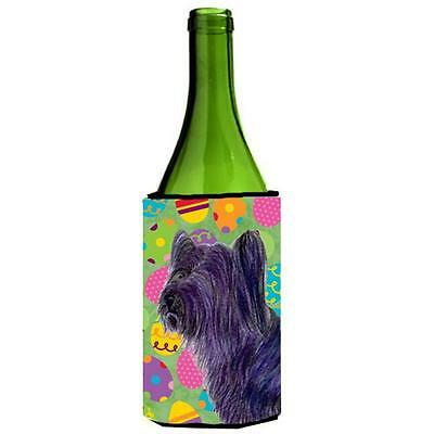 Skye Terrier Easter Eggtravaganza Wine bottle sleeve Hugger 24 oz.