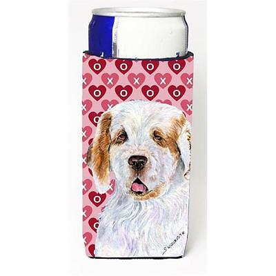 Clumber Spaniel Hearts Love And Valentines Day Portrait Michelob Ultra bottle...
