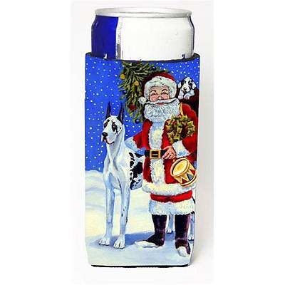 Harlequin Great Dane With Santa Claus Michelob Ultra bottle sleeves For Slim ...