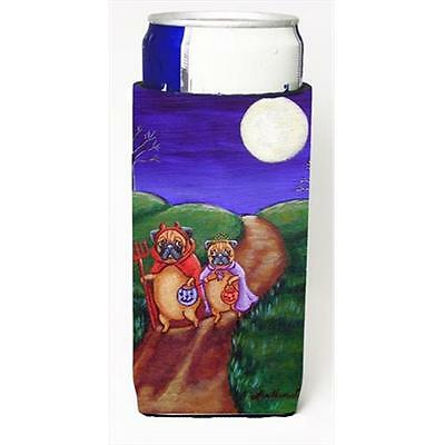 Trick Or Treat Halloween Pug Michelob Ultra bottle sleeves For Slim Cans 12 Oz.