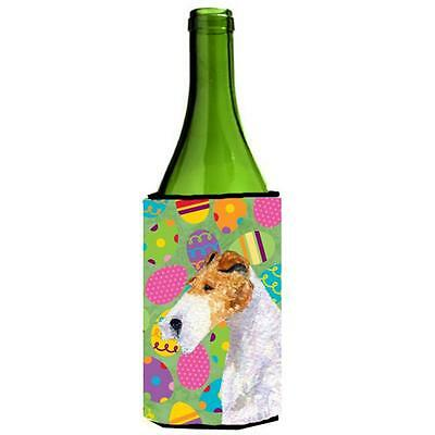 Fox Terrier Easter Eggtravaganza Wine bottle sleeve Hugger 24 oz.