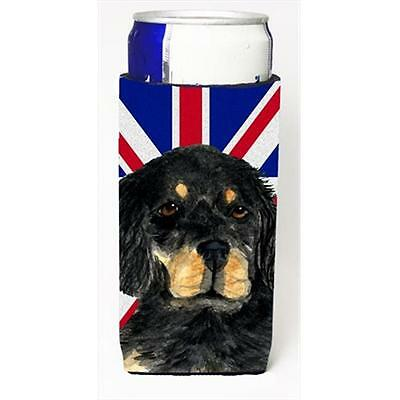 Gordon Setter With English Union Jack British Flag Michelob Ultra bottle slee...