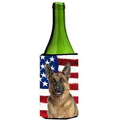 USA American Flag with German Shepherd Wine bottle sleeve Hugger