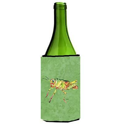 Carolines Treasures Grasshopper On Avacado Wine bottle sleeve Hugger 24 oz.