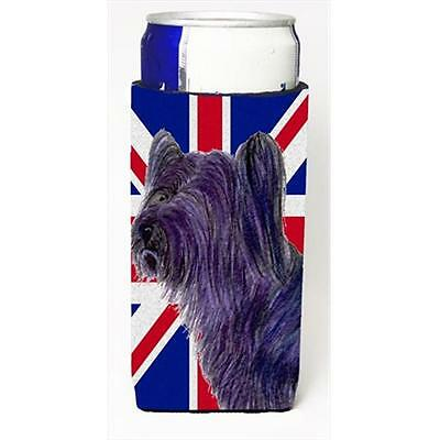 Skye Terrier With English Union Jack British Flag Michelob Ultra bottle sleev...