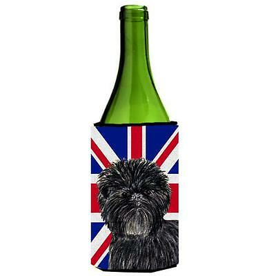 Affenpinscher With English Union Jack British Flag Wine bottle sleeve Hugger ...