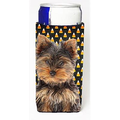Candy Corn Halloween Yorkie Puppy & Yorkshire Terrier Michelob Ultra bottle s...
