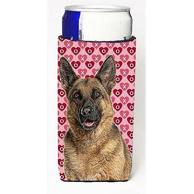 Hearts Love and Valentines Day German Shepherd Michelob Ultra bottle sleeves ...