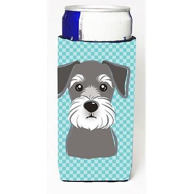 Blue Checkered Schnauzer Michelob Ultra bottle sleeves for slim cans