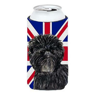 Affenpinscher With English Union Jack British Flag Tall Boy bottle sleeve Hug...