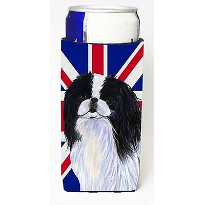 Japanese Chin With English Union Jack British Flag Michelob Ultra bottle slee...