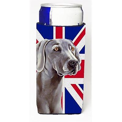 Weimaraner With English Union Jack British Flag Michelob Ultra bottle sleeves...