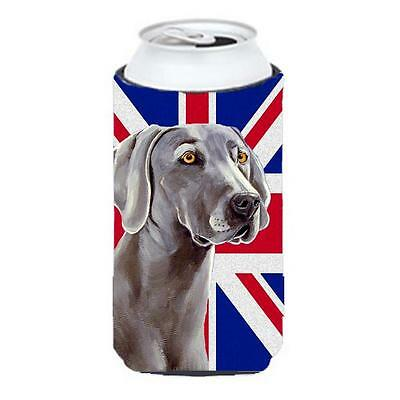 Weimaraner With English Union Jack British Flag Tall Boy bottle sleeve Hugger...