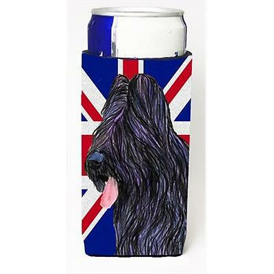 Briard With English Union Jack British Flag Michelob Ultra bottle sleeves For...