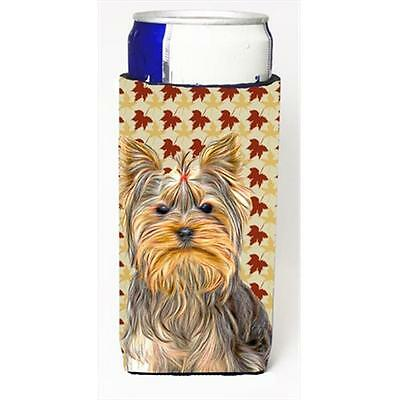 Fall Leaves Yorkie & Yorkshire Terrier Michelob Ultra bottle sleeves for slim...