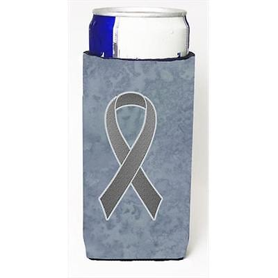 Grey Ribbon for Brain Cancer Awareness Michelob Ultra bottle sleeves for slim...