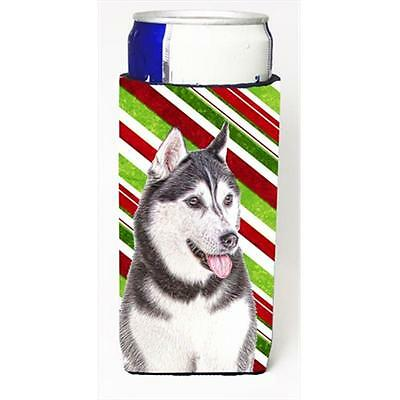 Candy Cane Holiday Christmas Alaskan Malamute Michelob Ultra bottle sleeves f...