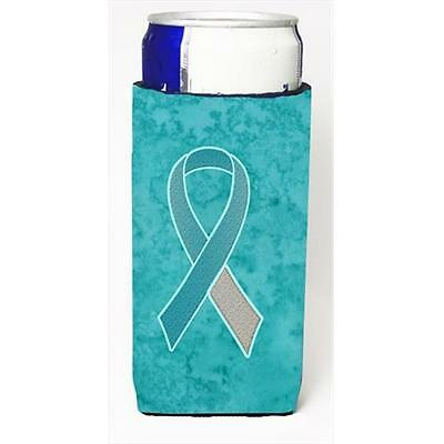 Teal and White Ribbon for Cervical Cancer Awareness Michelob Ultra bottle sle...