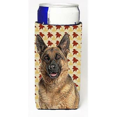 Fall Leaves German Shepherd Michelob Ultra bottle sleeves for slim cans