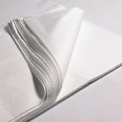 """50 x SHEETS OF WHITE ACID FREE TISSUE WRAPPING PAPER SIZE 450 X 700MM 18 X 28"""""""