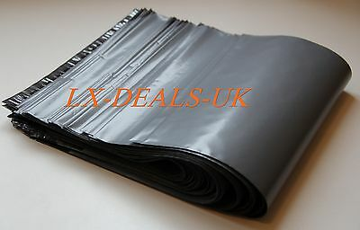 20 x Grey Plastic poly Mailing Bags 350 x 500 mm 14 x 20 20x peal & SEAL sacks