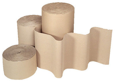 CORRUGATED STRONG CARDBOARD PAPER ROLLS 75m 5m 10m 25m of  300 500 600 750 900