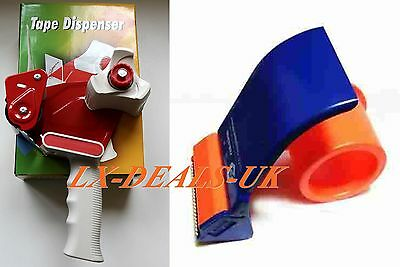 50mm Heavy Duty Metal Packing Packaging Tape Roll Hand Dispenser Gun 48mm orange