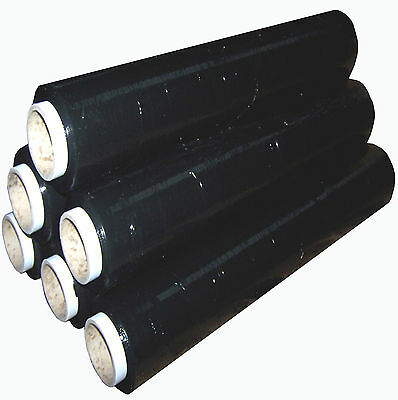 1 2 3 6 12 18 24 x STRONG BLACK PALLET STRETCH WRAP 400mm 250m 300 wrapping film