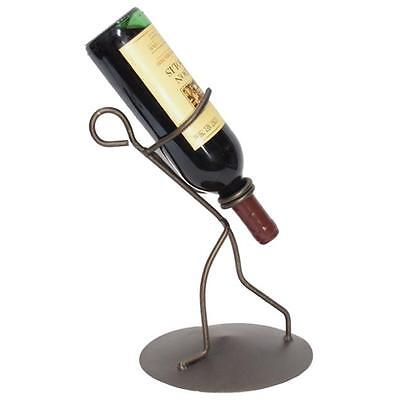 Metrotex Designs 21062 Iron Borracho Wine Bottle Holder, Meteor Finish