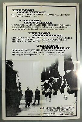 The Long Good Friday -Bob Hoskins / Helen Mirren- Original Usa 1Sht Movie Poster