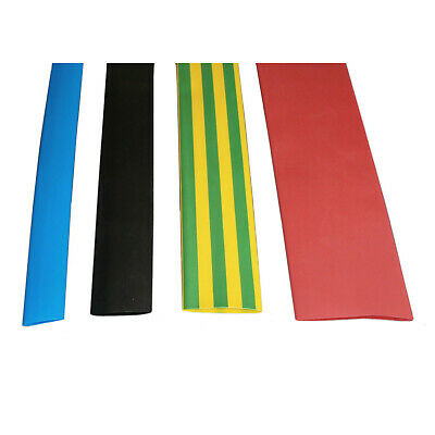 Heat Shrink 2:1 Sleeve Sleeving Electrical Tube Tubing 12.7 - 38.1mm All Colours