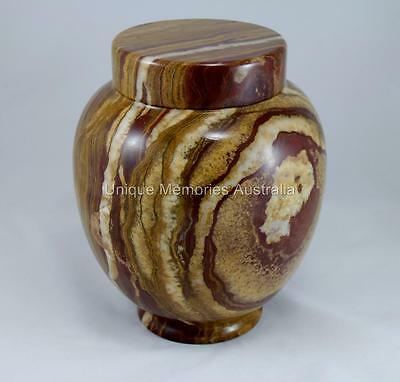 Solid Marble Traditional XL Adult Memorial Cremation Cinerary Funeral Urn NIB