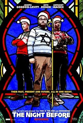 "NIGHT BEFORE - 2015 - original 27x40 Advance Movie Poster ""A"" - SETH ROGEN"