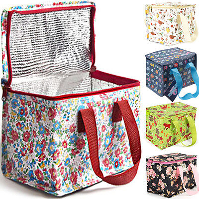 INSULATED LUNCH BAG / New Food Storage Tote Plastic Cool Case School Office Work