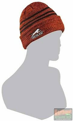 Arctic Cat Adult Aircat Logo Watchman Beanie / Hat - Orange 5253-168
